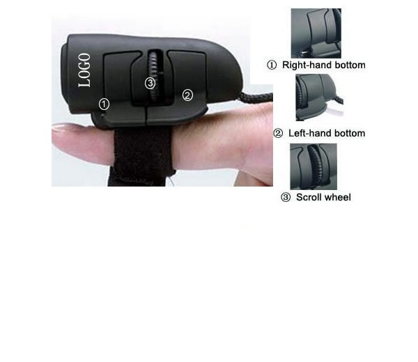 Miniature finger mouse with USB connector