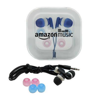 Earphones with Case & Interchangeable Earbuds