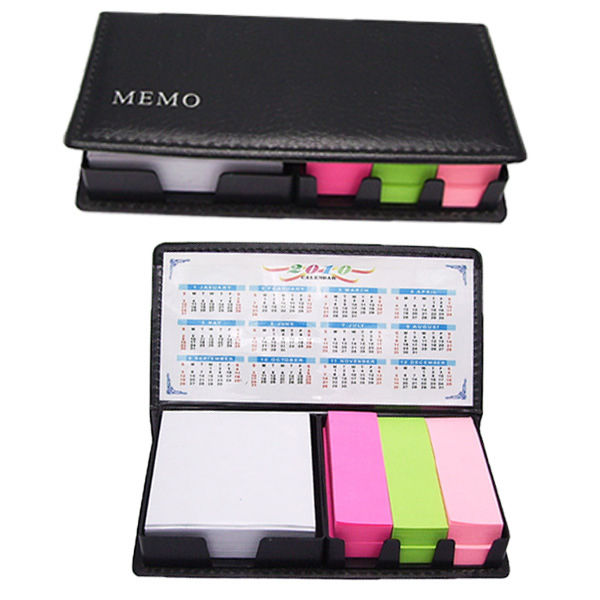 Notepad caddy with calendars