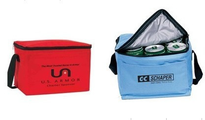 Six Pack insulated cooler with strap