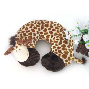 U shaped Plush sika deer neck pillows