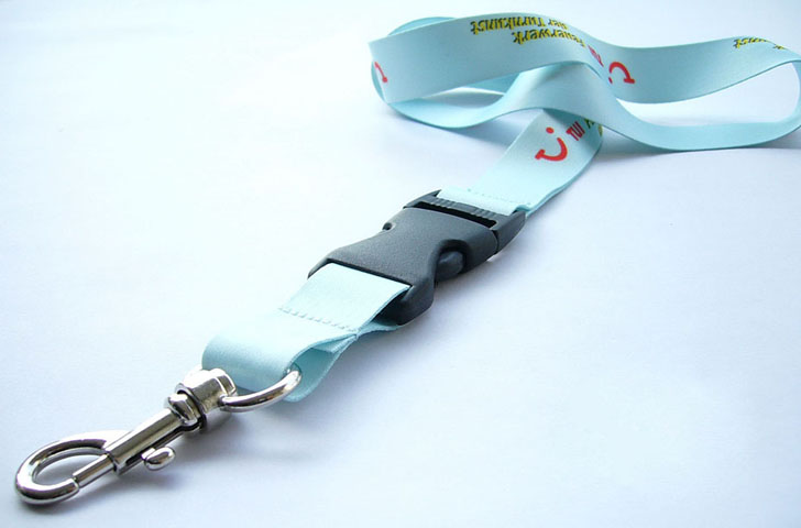 Badge Holder Lanyar With Carabiner Hook