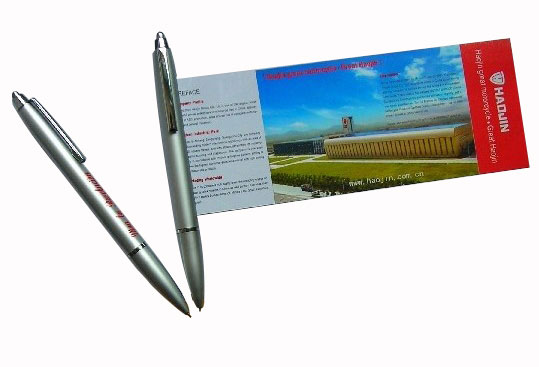 Custom Banner Pen With Silver Color Tube