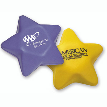 Custom Logo Star Shape PU Stress Reliever