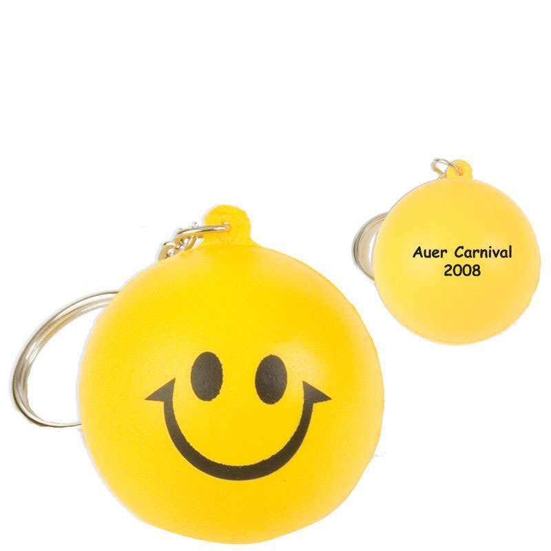 Printed Logo Stress Ball Keychain