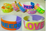 1 Wide Silicon Wristbands