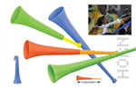 Adjustable vuvuzela horn