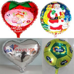 Aluminum foil latex balloon with custom imprint