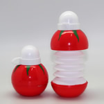 Collapsible Tomato Shaped Plastic Bottles