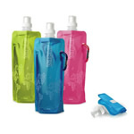 Collapsible bottle with carabiner