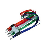 Colorful polyester lanyard