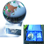 Crystal ball with world map for gifts