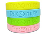 Debossed Silicone Wrist Band