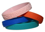 Embossed Silicone Bracelet