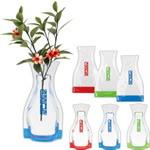 Flexible plastic vase