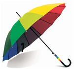 Folding automatic open rainbow umbrella