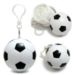 Football-shaped Pendant With Rain Poncho