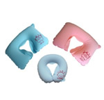 Inflatable U shaped neck pillows
