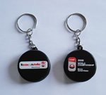 Key chain hockey puck