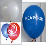 Latex balloon for 10 with custom imprint