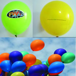 Latex balloon for 7 with custom imprint