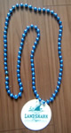 Mardi Gras Beads Necklace with Charm