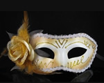 Mardi Gras mask with glitters