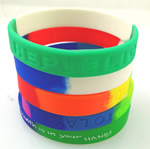 Multi-colored Silicone bracelet