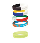 Multiple colour silicone bracelet