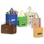 Non woven textured grocery tote bag