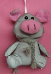 Plush pig pendants(shinning materials)