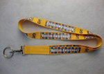 Polyester lanyard with keyring