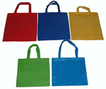Printed nonwoven hand reusable bag
