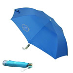 Promotional umbrella with custom logo printing.