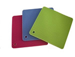 Quadrate silicone heat insulation pad