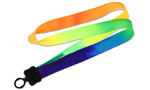 Rainbow 3/4 x 36 Multi-Color Tie-Dye Lanyard