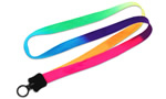 Rainbow Multi-Color Tie-Dye Lanyard
