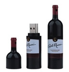 Red wine bottle USB disk