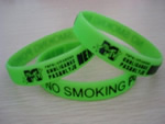 Screen Printed Silicone Bracelets