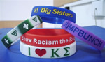 Silicone Bracelets, 100% silicon, debossed or embossed logo