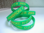Silicone Bracelets, 100% silicon, with 1 color logo imprint