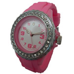 Silicone Diamond Rotating Watch