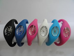 Silicone Gel Sporty Wristband Watch