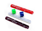 Silicone slap bracelet, with 1 color logo imprint. Size: 9L x 1W.