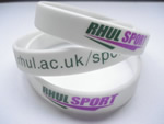 Silicone wristband, Silicon bracelet, 100% silicon, with 1 color logo imprint