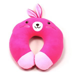 U shaped Plush bunny neck pillows