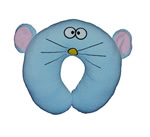 U shaped Plush mouse neck pillows