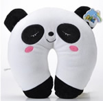 U shaped Plush panda neck pillows