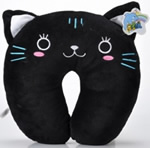 U shaped Plush panther neck pillows