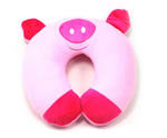 U shaped Plush pig neck pillows